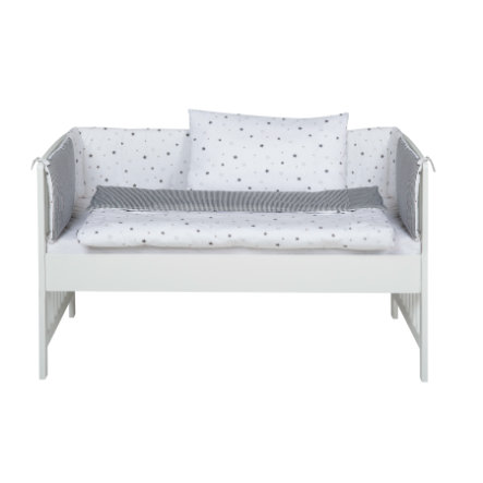 Schardt Lettino co-sleeping con set biancheria Micky bianco stelle grigie