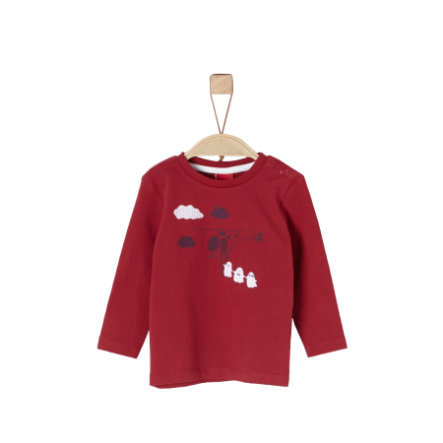 s.Oliver Boys Chemise manches longues rouge