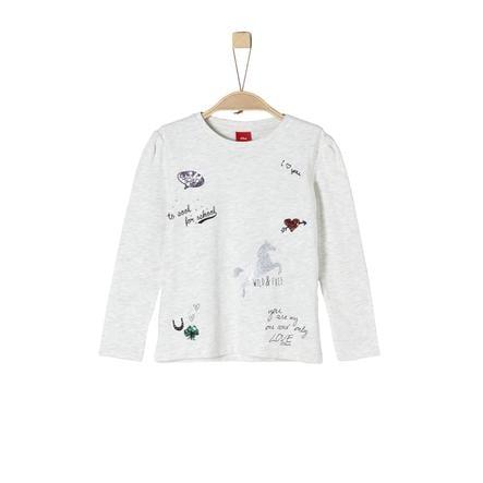 s.Oliver Girl s camisa de manga larga ecru melange