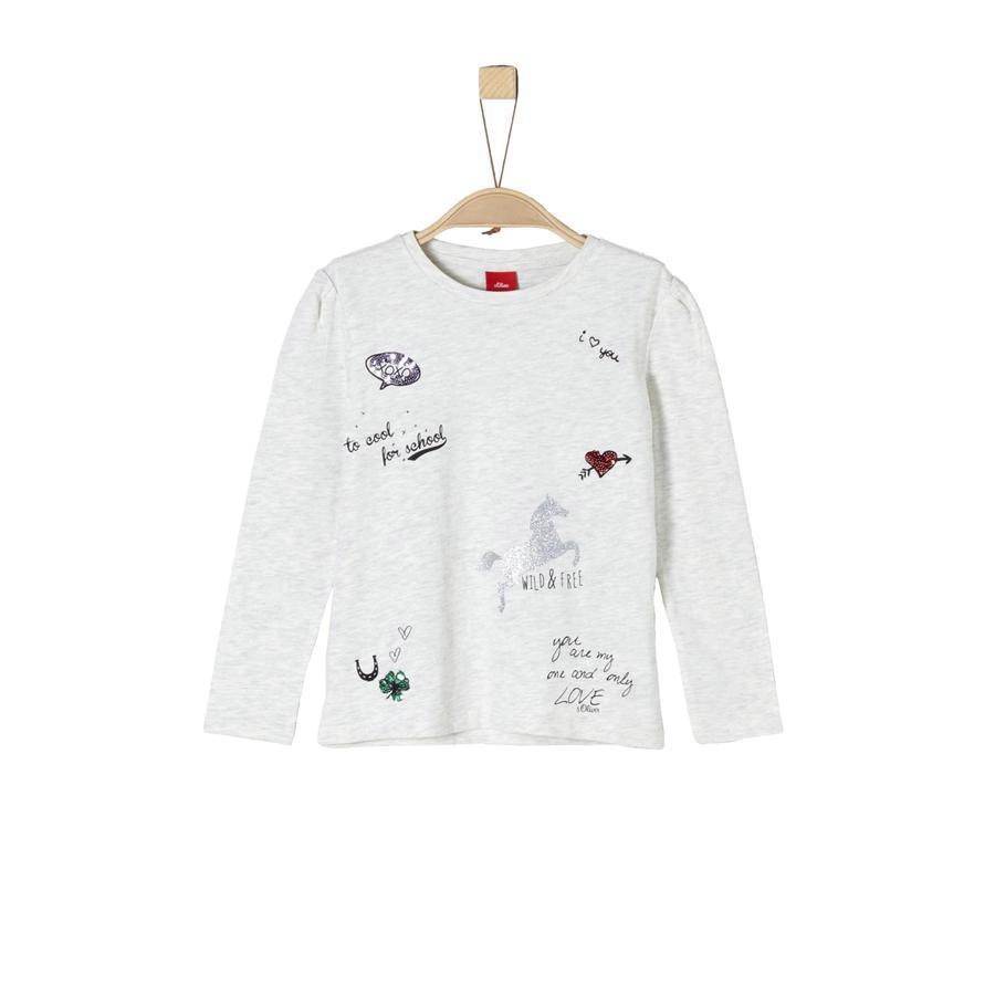 s.Oliver Girl s shirt met lange mouwen ecru melange