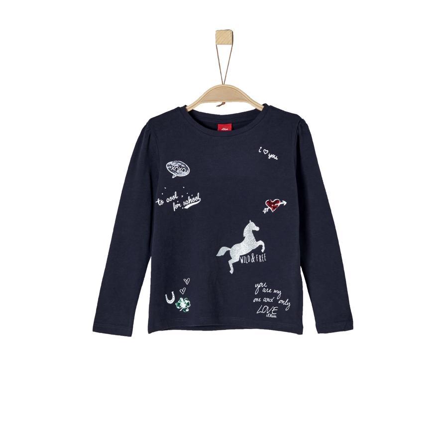 s.Oliver Girl s shirt met lange mouwen donkerblauw