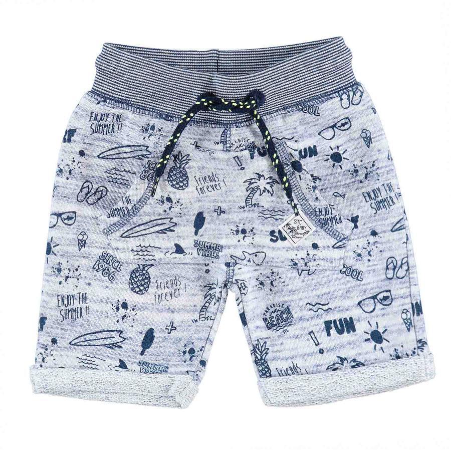 STACCATO Boys Bermuda-blauw patroon