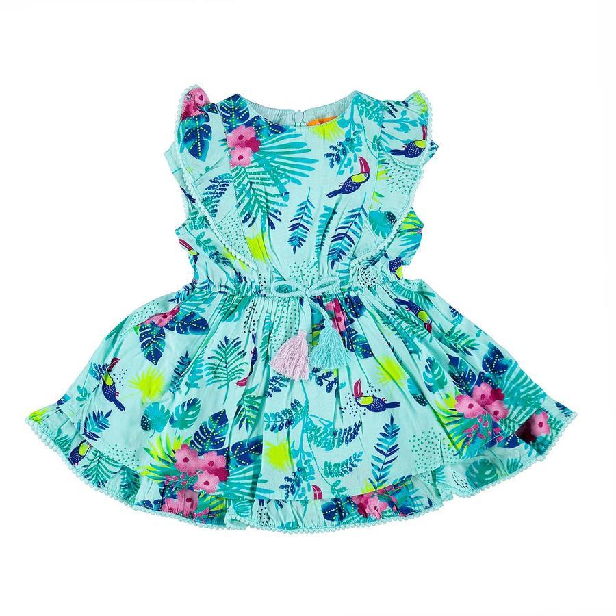 STACCATO Girl s jurkje met aqua-panty's patroon