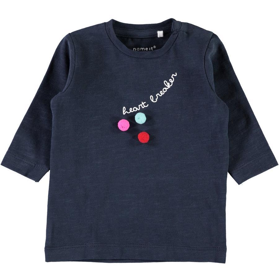 name it Girl s Koszula z długim rękawem Nete ciemny szafir