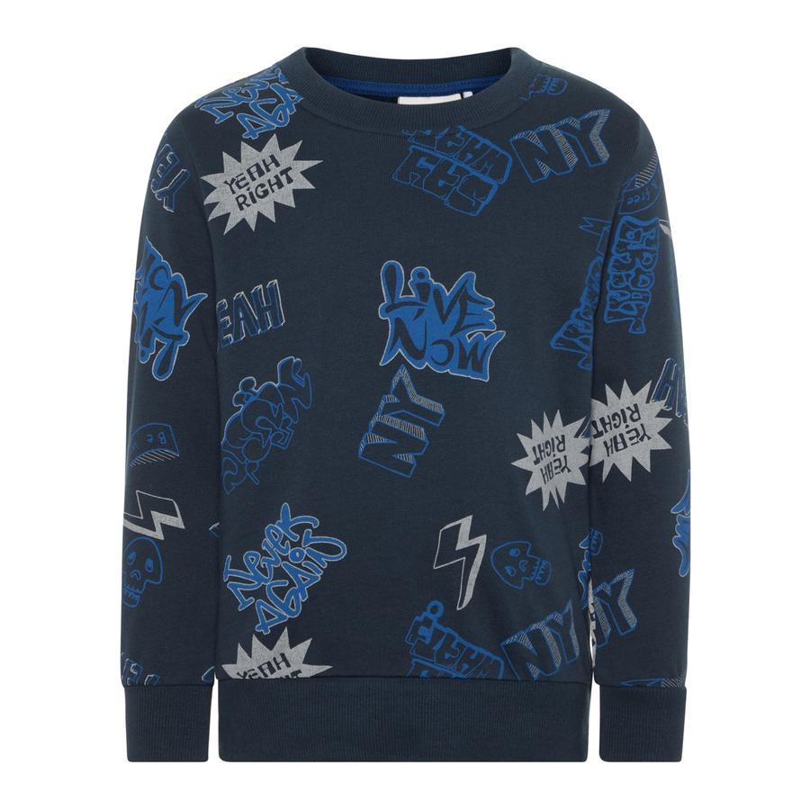 name it Boys Sweatshirt Nmmesa donkere saffier