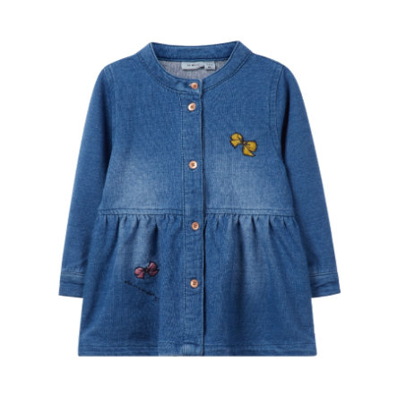 name it Girls Kleid Fabarbel, medium blue denim