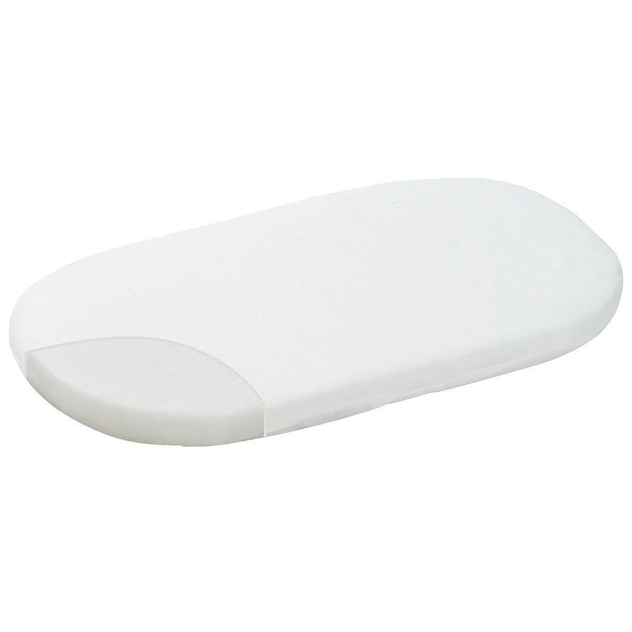 ALVI  Materassino ovale per culla in vimini Dry-FoderaAir & Clean 80 x 46