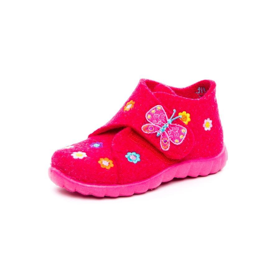 superfit Girl s pantoffel Happy butterfly pink kombi