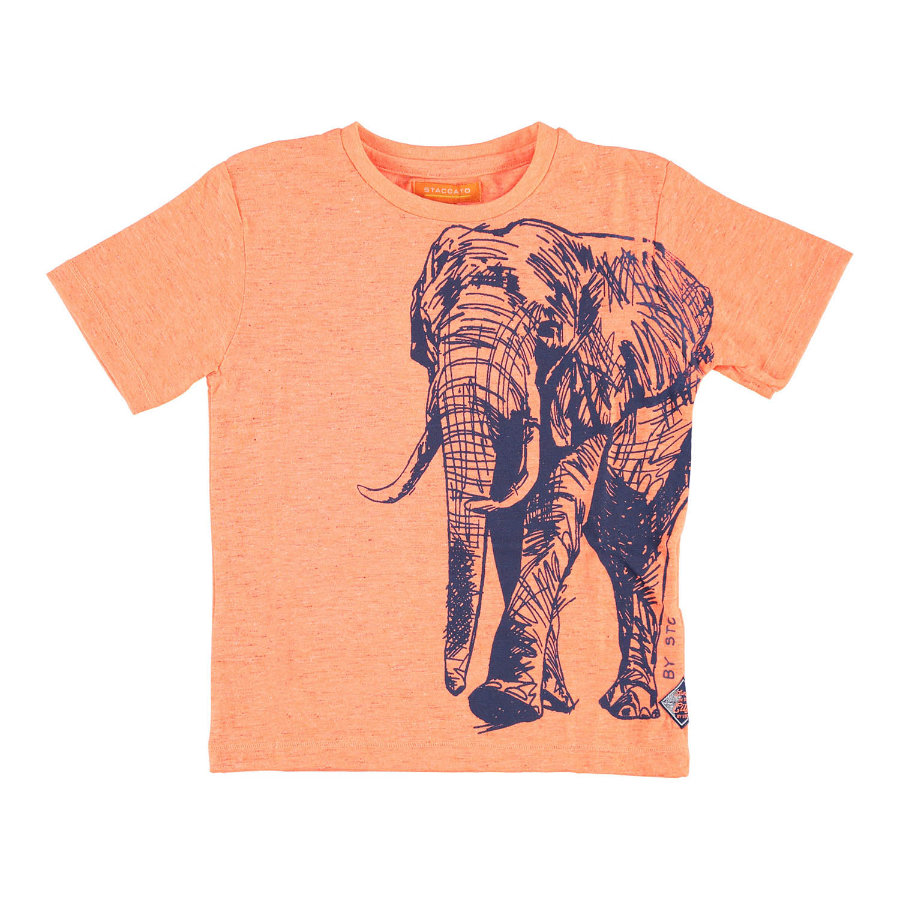 STACCATO Boyls T-Shirt orange mit Struktur