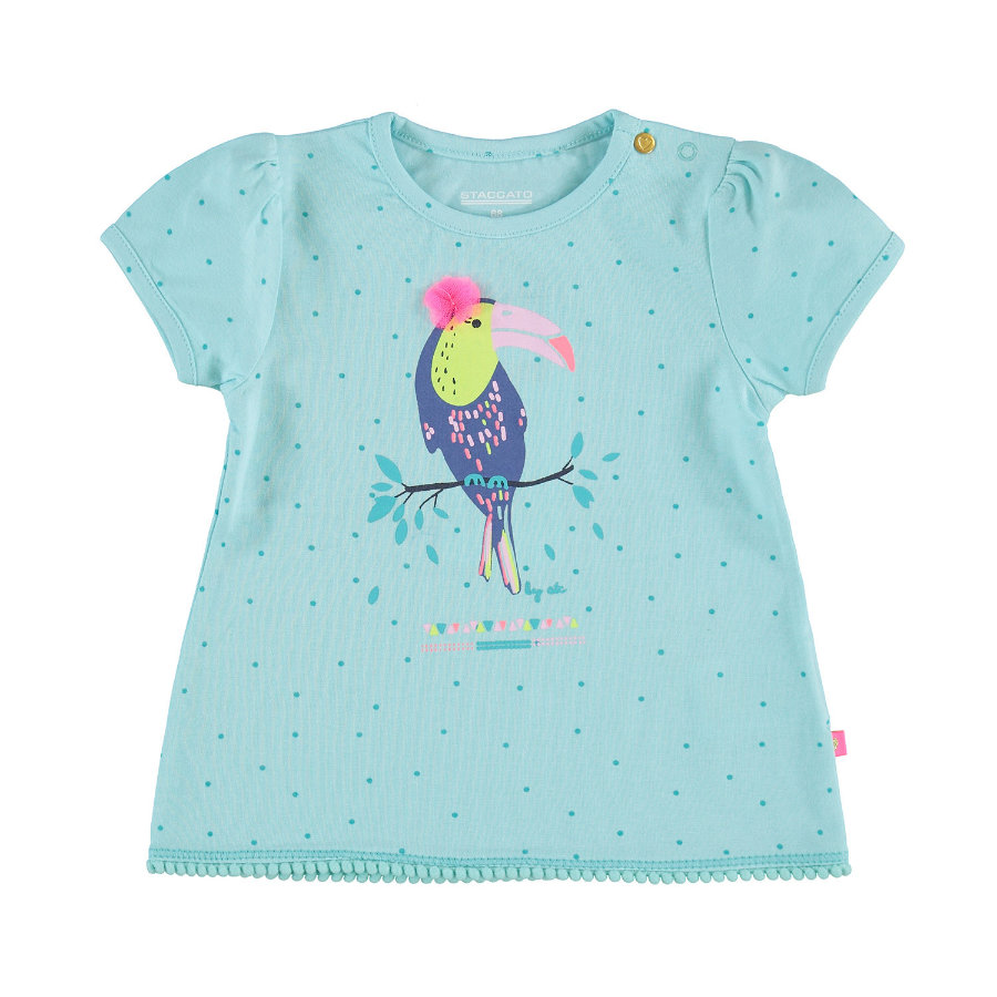 STACCATO Girls T-Shirt aqua gemustert