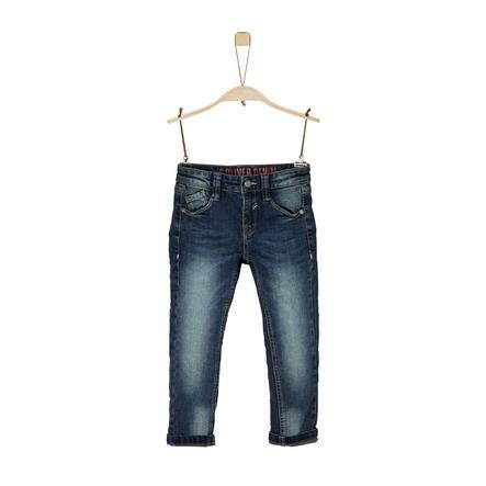 s. Olive r Chlapecké džíny modrá džínovina strečová
