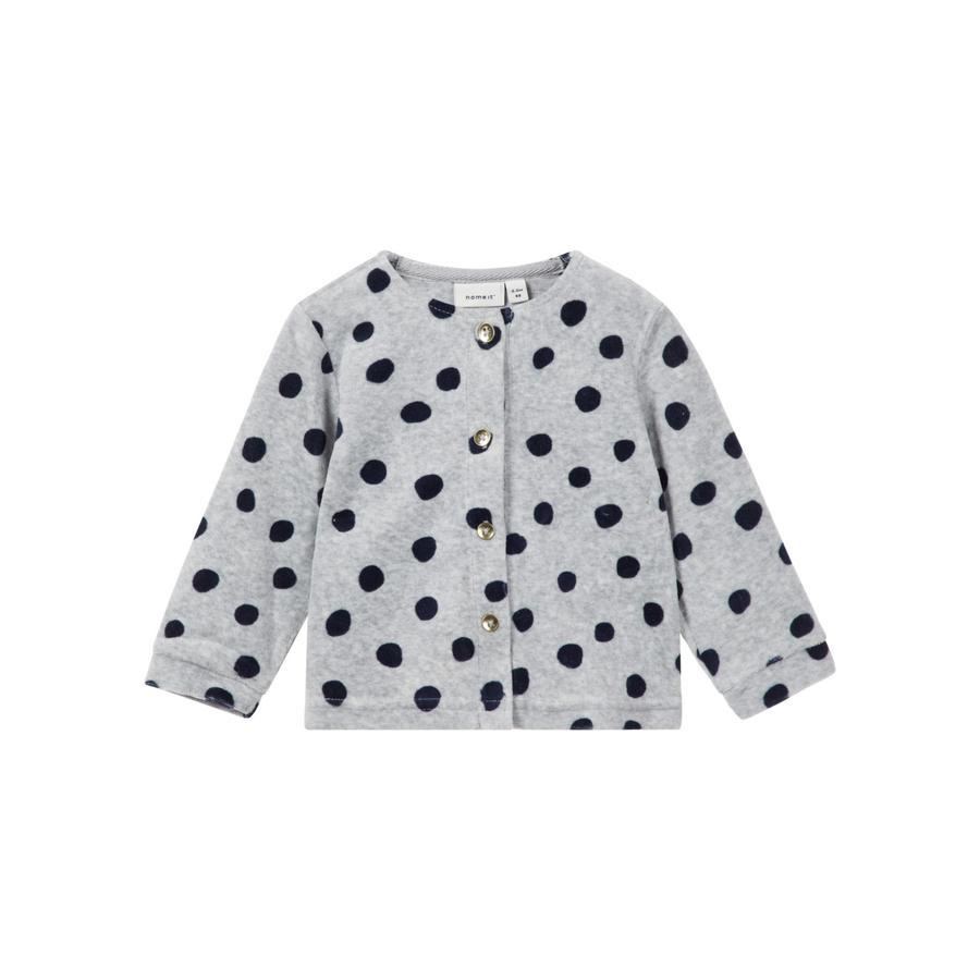name it Girl s Sweat Jacket Velours Nealma gris mélange