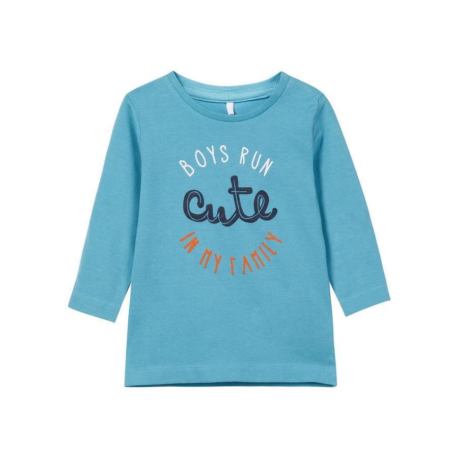 name it Chlapecké tričko s dlouhým rukávem Naka, Delphinium blue