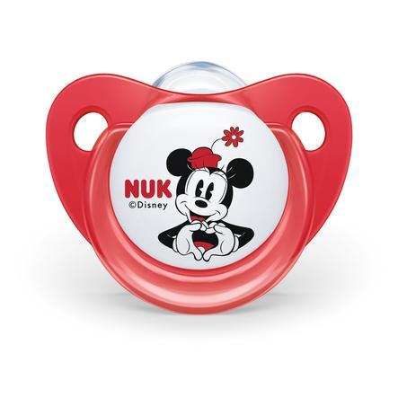 NUK Schnuller Trendline Mickey & Minnie 90 Jahre Jubiläum Silikon rot / weiß 2 Stück