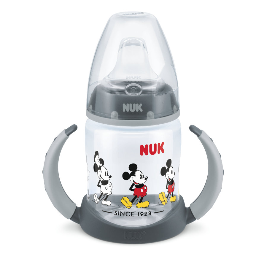NUK láhev na pití First Choice Mickey a Minnie myš od 6. měsíce 150 ml šedá