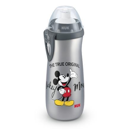 NUK Sport s Ratón Cup 450ml Minnie con silicona en la boquilla push-pull y clip 450 ml gris