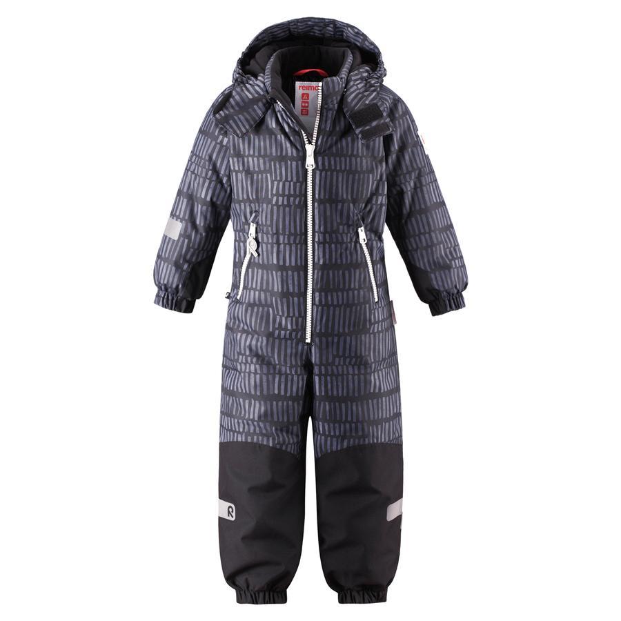 reima tec Kiddo Winter Overall Snowy dark grey
