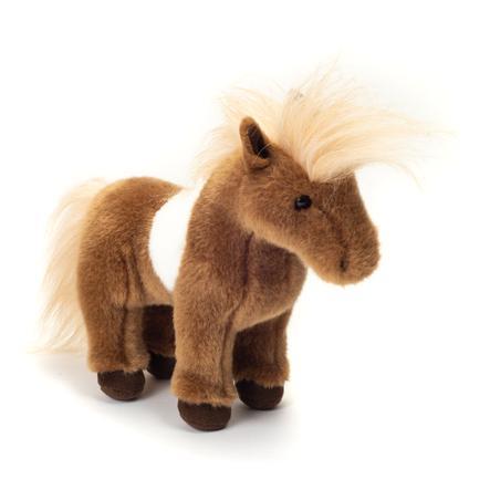 Teddy HERMANN® Peluche poney Shetland 25 cm