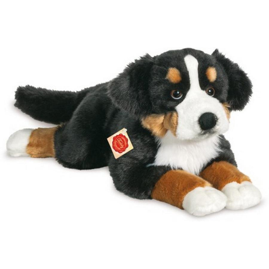 Teddy HERMANN® Peluche chien bouvier bernois couché, 60 cm