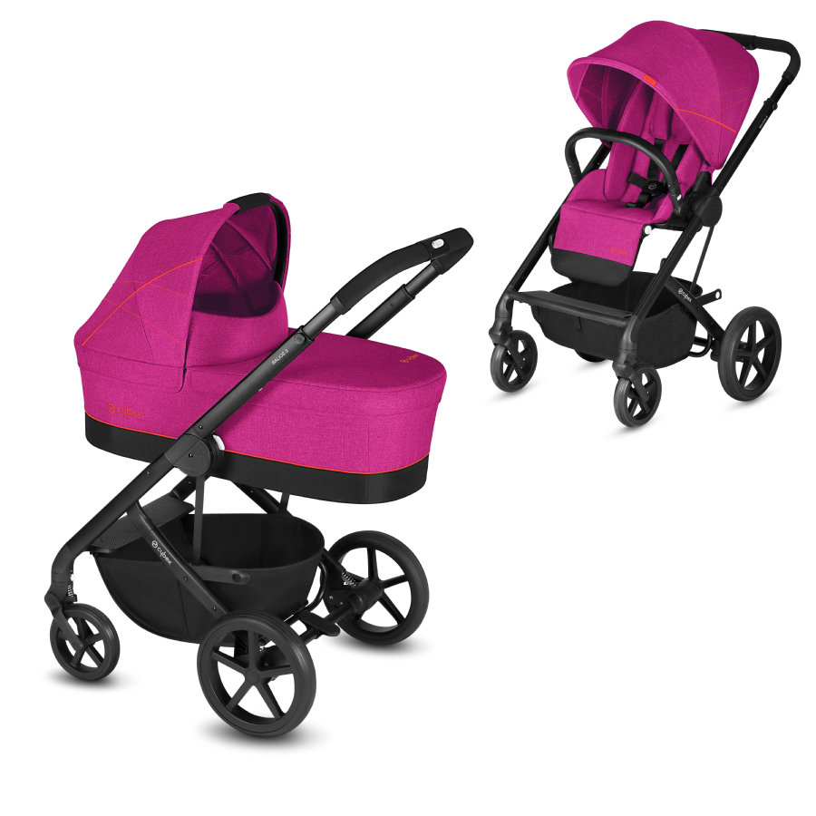 cybex GOLD Kombivogn Balios S inkl- barnevognskasse Cot S Passion Pink-Purple