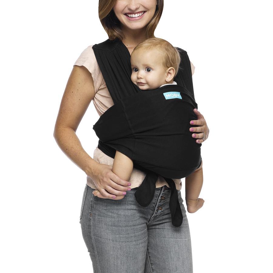 MOBY Écharpe porte-bébé hybride FIT noir