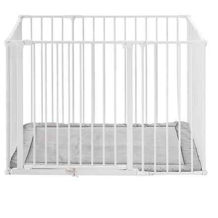 Baby Dan Square lekegrind med madrass hvit