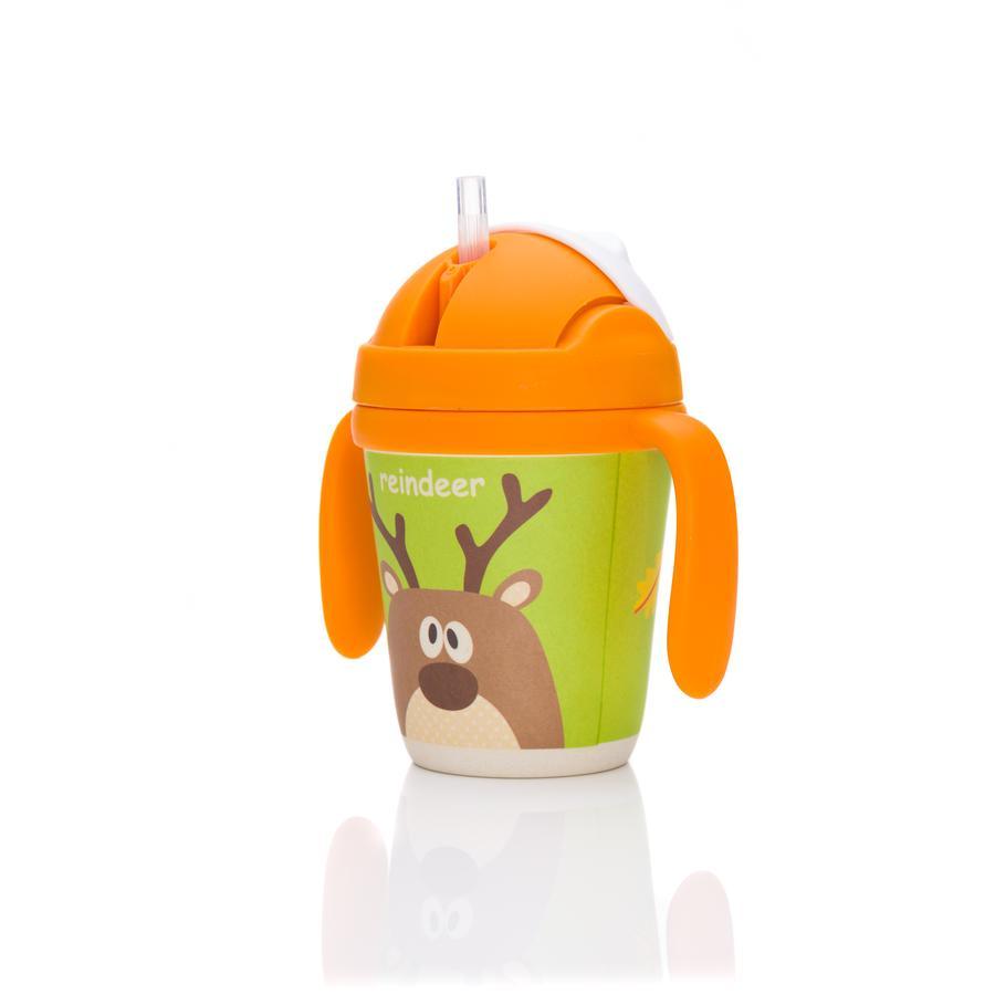 fillikid Tasse bébé renne bambou vert/orange