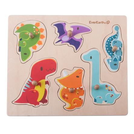EverEarth® puslespill av tre, dinosaurer