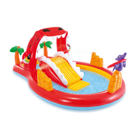 INTEX® Piscine enfant aire de jeu happy dino