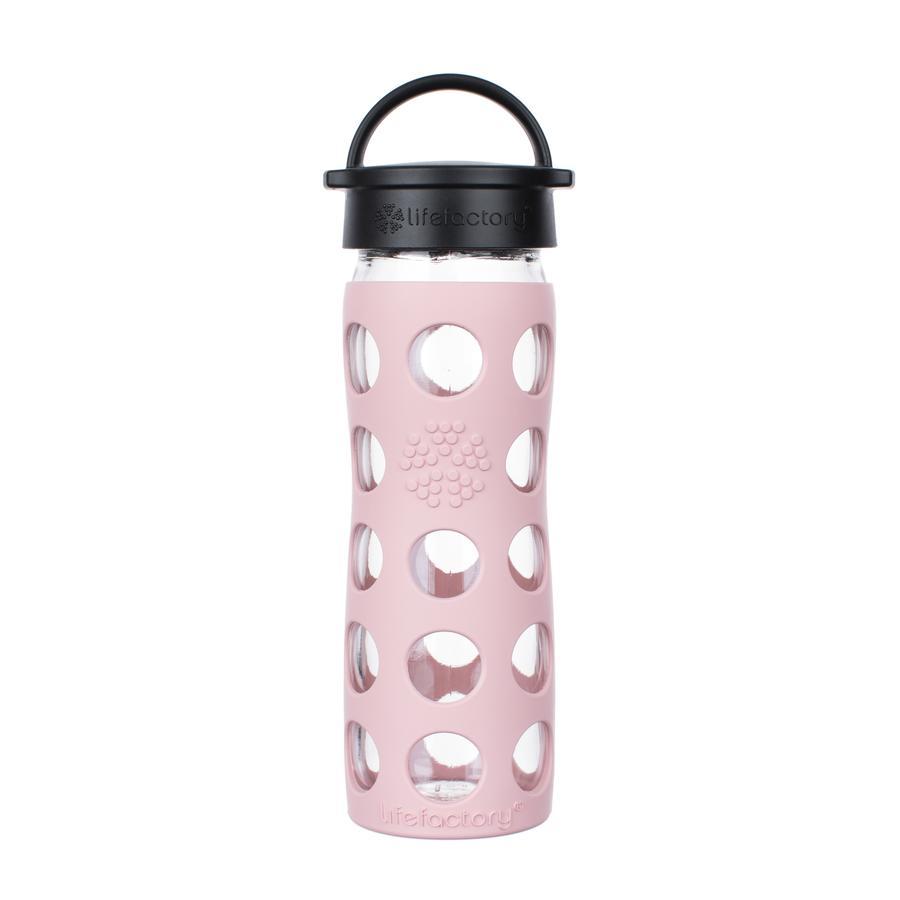 LIFEFACTORY Botella para beber Classic Capuchón desert rosa 475ml