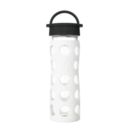 LIFEFACTORY Trinkflasche Classic Cap arctic white 475ml