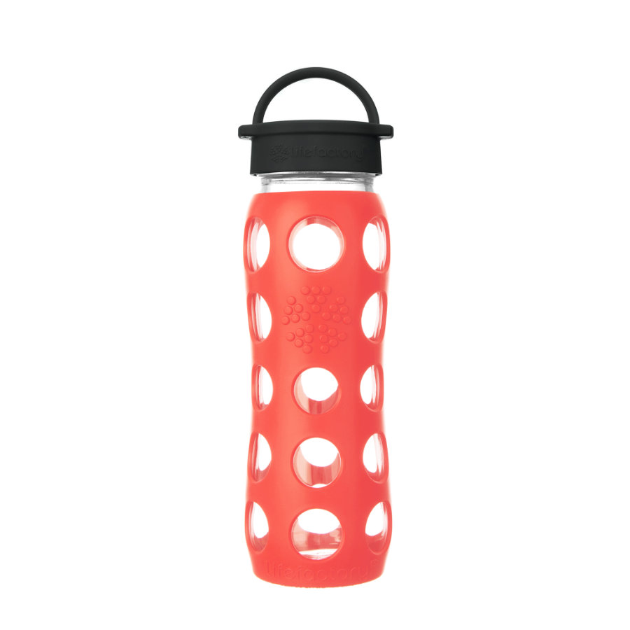 LIFEFACTORY Trinkflasche Classic Cap poppy 650 ml