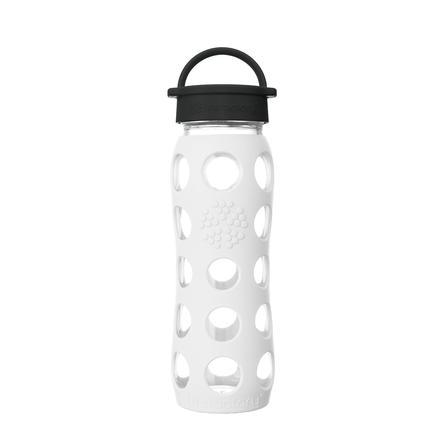 LIFEFACTORY Juomapullo Classic Cap, 650 ml, Arctic White