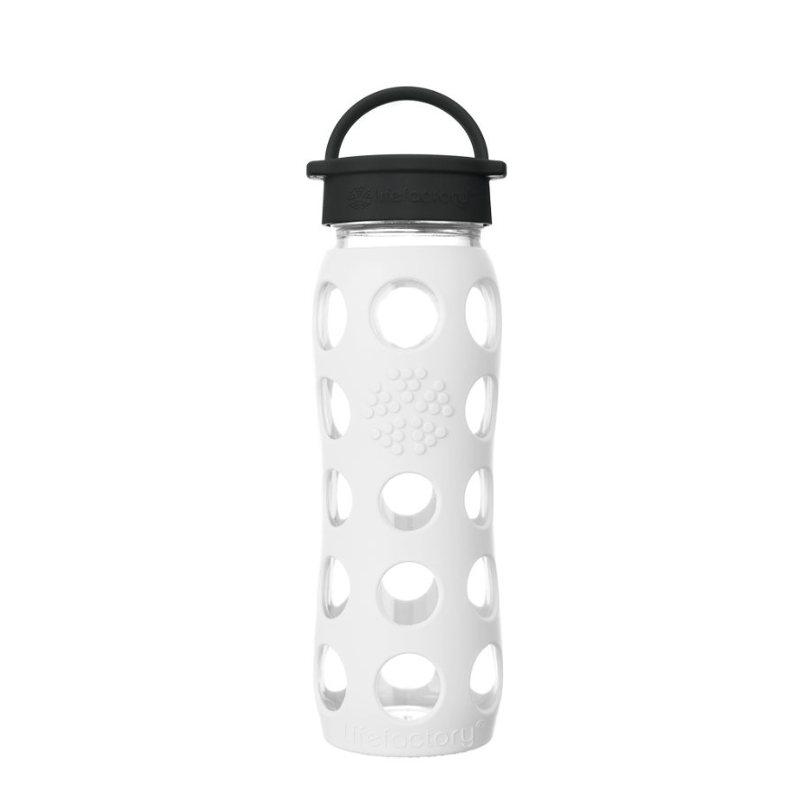LIFEFACTORY Trinkflasche Classic Cap arctic white 650 ml