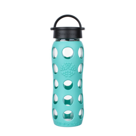 LIFEFACTORY Trinkflasche Classic Cap sea green 650 ml
