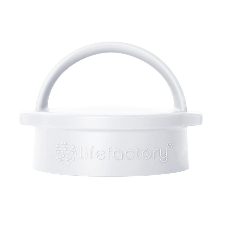 lifefactory Classic Cap arctic white voor glazen flessen