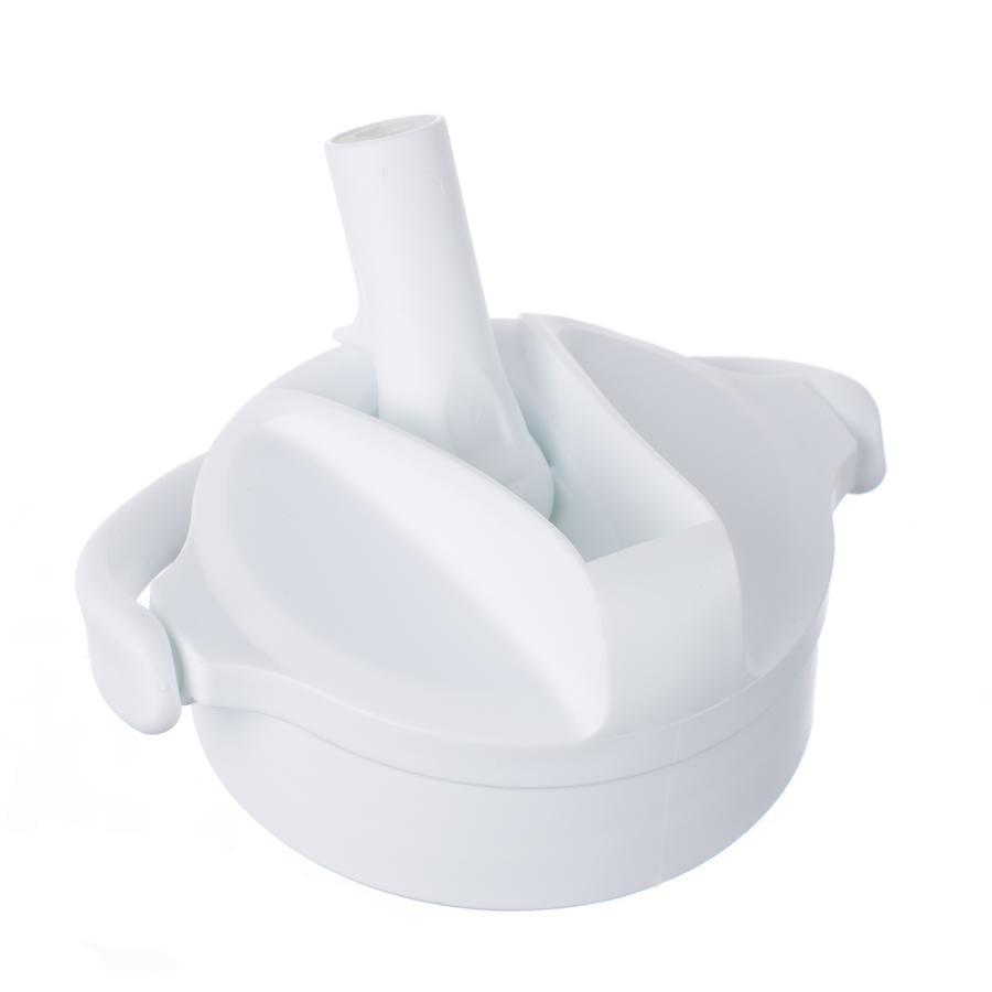 LIFE FACTORY Pivot Straw Cap arktisk hvit for glassflasker