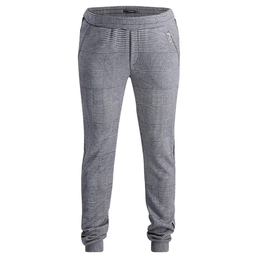 SUPERMOM Sweatbroek Check Zwart