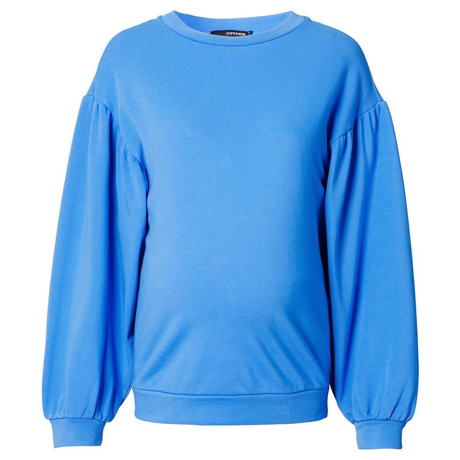 SUPERMOM Sweatshirt de grossesse manches longues bleu clair