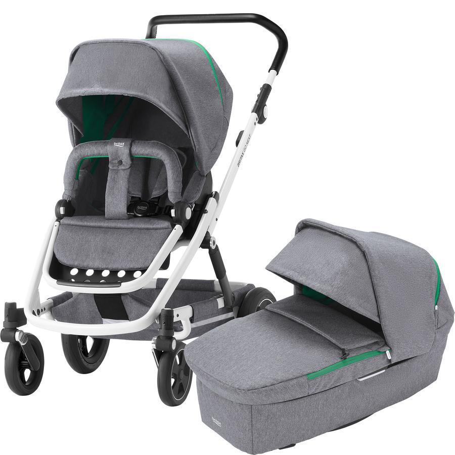 Britax Kombikinderwagen Go Next² und Babyschale Baby-Safe² i-Size Dynamic Grey Gestellfarbe White - Black Marble