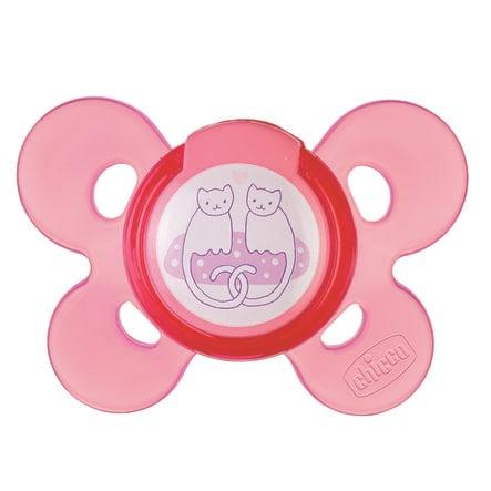 chicco Physio Comfort Silikon-Beruhigungssauger rosa ab dem 6.Monat