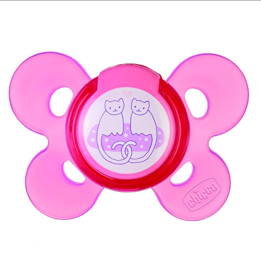 """CHICCO Dudlík """"Physio Comfort"""" Pink, 4m+, silikon, Girl"""