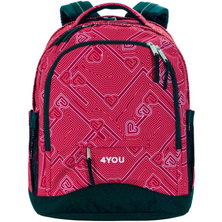 4YOU Flash Zaino scuola Compact, 445-45 Heartlines
