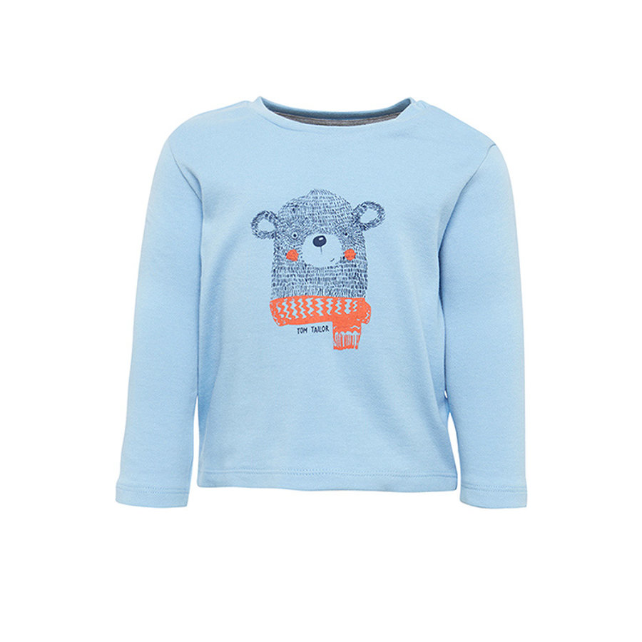 TOM TAILOR Boys Langarmshirt, hellblau