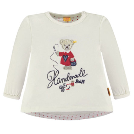 Steiff Girls Sweatshirt, weiß