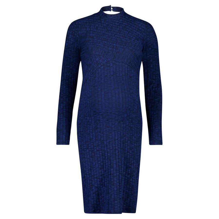 SUPERMOM těhotenské šaty Turtle Neck Blue