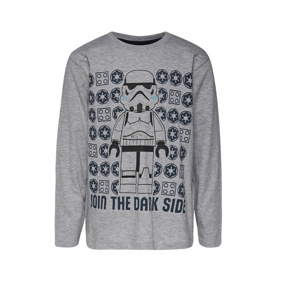 LEGO wear  LEGO® Star shirt met lange mouwen Wars™ Verbind het Donkere Grijze Melange aan de Donkere Zijkant.