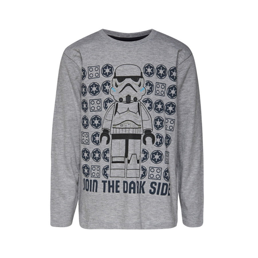 LEGO wear tričko s dlouhým rukávem LEGO® Star Wars™ Join the Dark Side Grey Melange