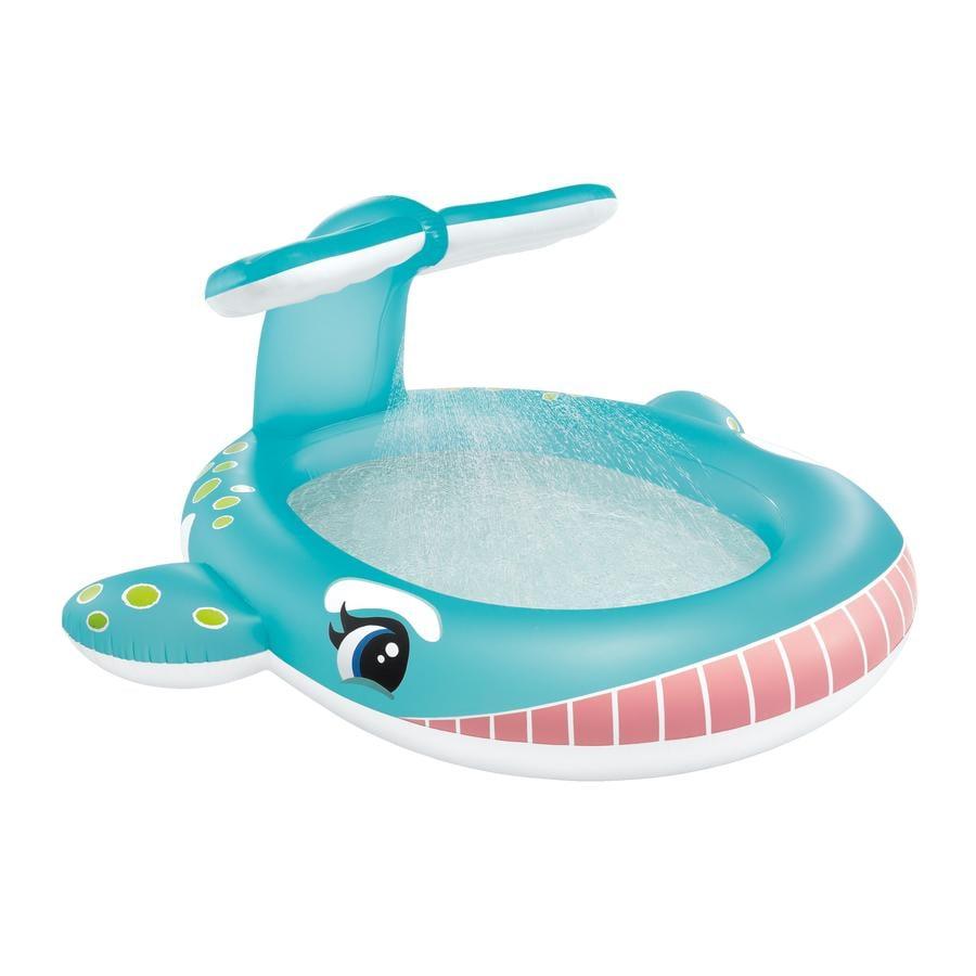 INTEX® Piscine gonflable enfant jet d'eau baleine bleu