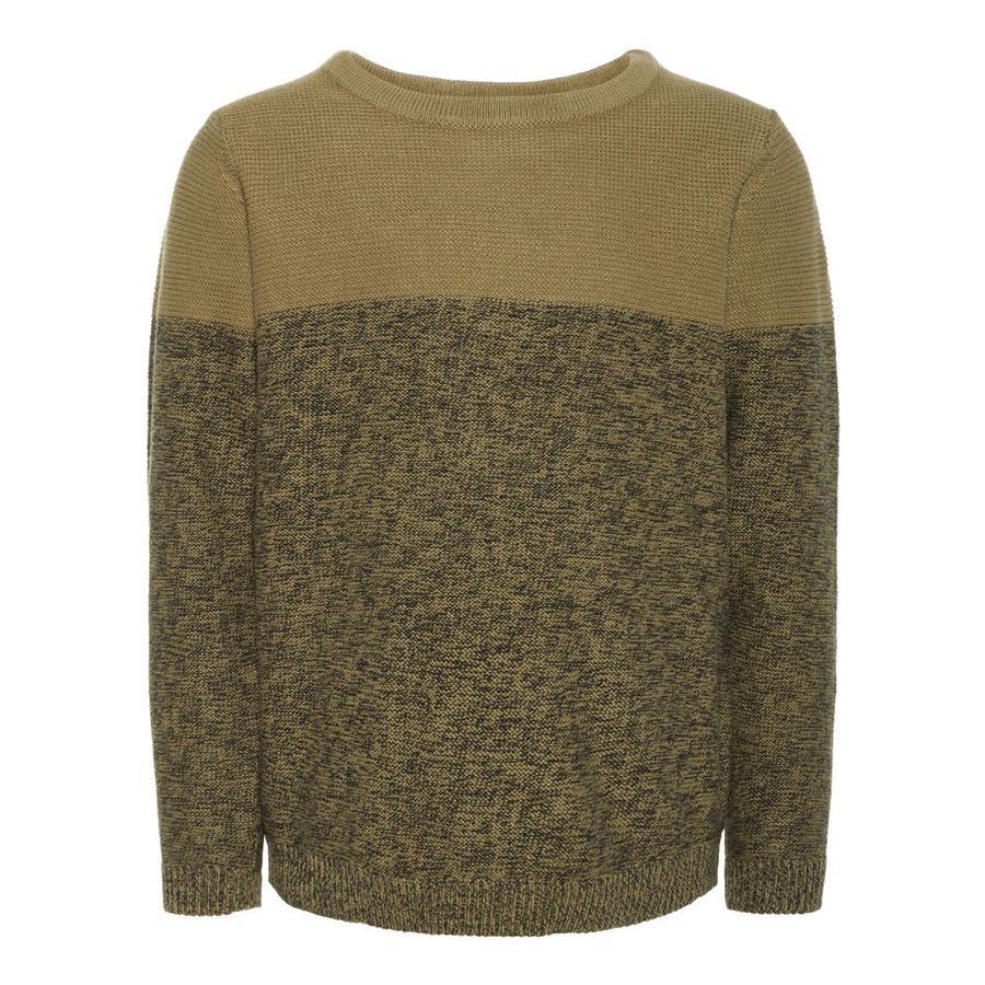 name it Boys Trui Vernard gebrande olijfkleurige trui